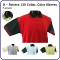 O Series - pattern 130 collar, color sleeves