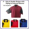 P Series (grip & double stripes with piping & color sleeves)