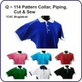 Q Series (114 pattern collar, piping, cut & sew)