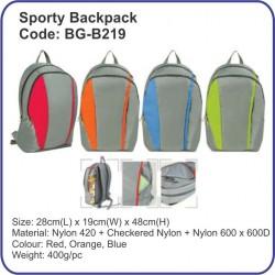 Sporty Backpack Bag BG-B219
