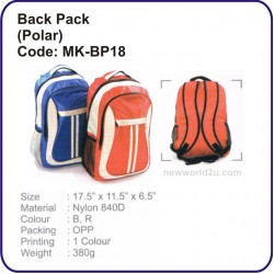 Backpack Bag (Polar) MK-BP18