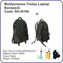 Multipurpose Trolley Laptop Backpack BG-B196