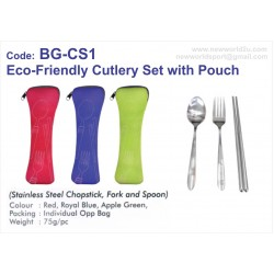 BG-CS1 Eco-Friendly Cutlery Set with Pouch