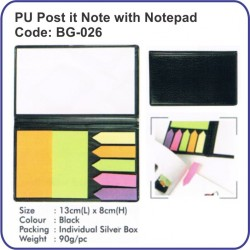 PU Post it Note with Notepad BG-026