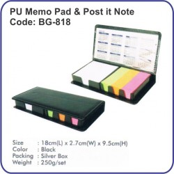 PU Memo Pad & Post it Note BG-818