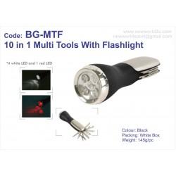 10 in 1 Multi Tools with Flashlight BG-MTF