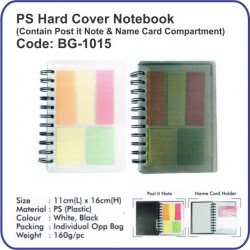 PS hard cover notebook BG-1015