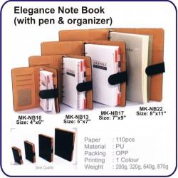 "Elegance Note Book MK-NB10 (Size: 4"" x 6"")"
