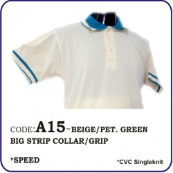 T-Shirt CVC A15 - beige/pet.green