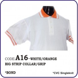 T-Shirt CVC A16 - white/orange