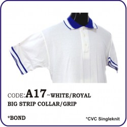 T-Shirt CVC A17 - white/royal