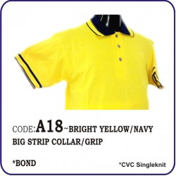 T-Shirt CVC A18 - Bright Yellow/Navy