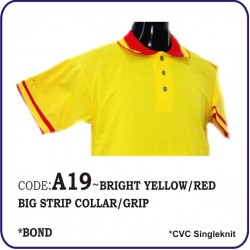 T-Shirt CVC A19 - Bright Yellow/Red