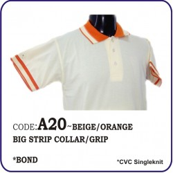 T-Shirt CVC A20 - Beige/Orange
