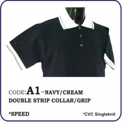T-Shirt CVC A1 - Navy/Cream