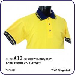 T-Shirt CVC A13 - Bright Yellow/Navy