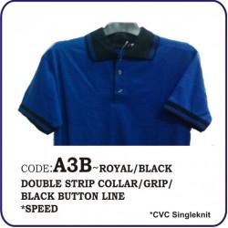 T-Shirt CVC A3B - Royal/Black