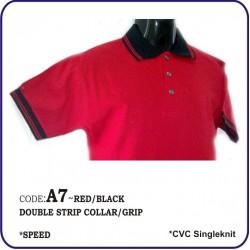 T-Shirt CVC A7 - Red/Black