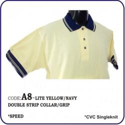 T-Shirt CVC A8 - Lite Yellow/Navy