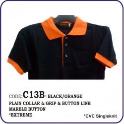 T-Shirt CVC C13B - Black/Orange