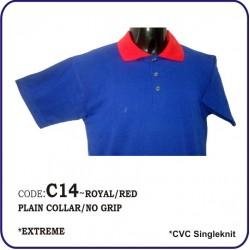 T-Shirt CVC C14 - Royal/Red