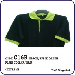 T-Shirt CVC C16B - Black/Apple Green