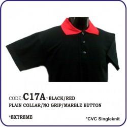 T-Shirt CVC C17A - Black/Red
