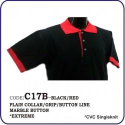 T-Shirt CVC C17B - Black/Red
