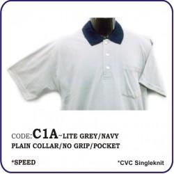 T-Shirt CVC C1A - Lite Grey/Navy