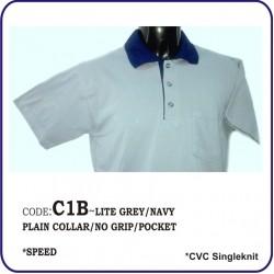 T-Shirt CVC C1B - Lite Grey/Navy