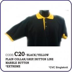 T-Shirt CVC C20 - Black/Yellow