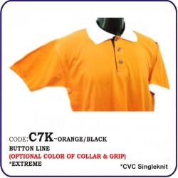 T-Shirt CVC C7K - Orange/Black
