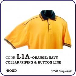 T-Shirt CVC L1A - Orange/Navy