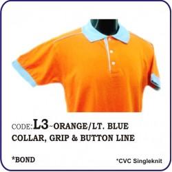 T-Shirt CVC L3 - Orange/Lite Blue