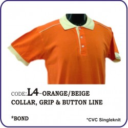 T-Shirt CVC L4 - Orange/Beige