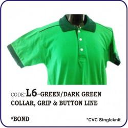 T-Shirt CVC L6 - Green/Dark Green