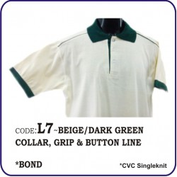 T-Shirt CVC L7 - Beige/Dark Green
