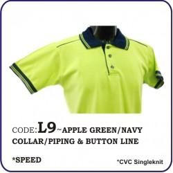 T-Shirt CVC L9 - Apple Green/Navy