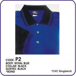 T-Shirt CVC P2 - Royal Blue/Black