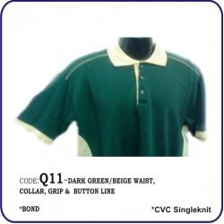 T-Shirt CVC Q11 - Dark Green/Beige
