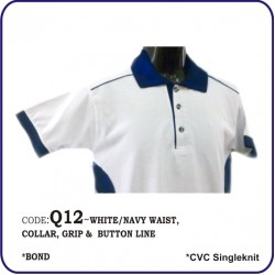 T-Shirt CVC Q12 - White/Navy
