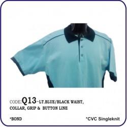 T-Shirt CVC Q13 - Lite Blue/Black