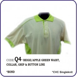 T-Shirt CVC Q4 - Beige/Apple Green
