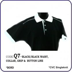 T-Shirt CVC Q7 - Black/Black