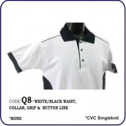 T-Shirt CVC Q8 - White/Black