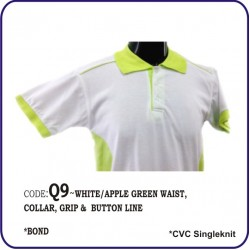 T-Shirt CVC Q9 - White/Apple Green