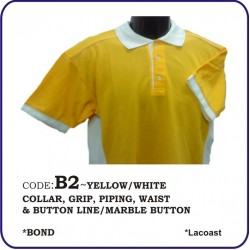 T-Shirt Lacoast B2 - Yellow/White
