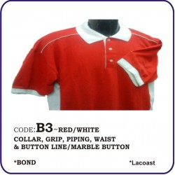 T-Shirt Lacoast B3 - Red/White