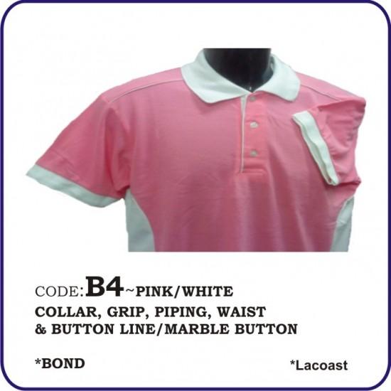 T-Shirt Lacoast B4 - Pink/White