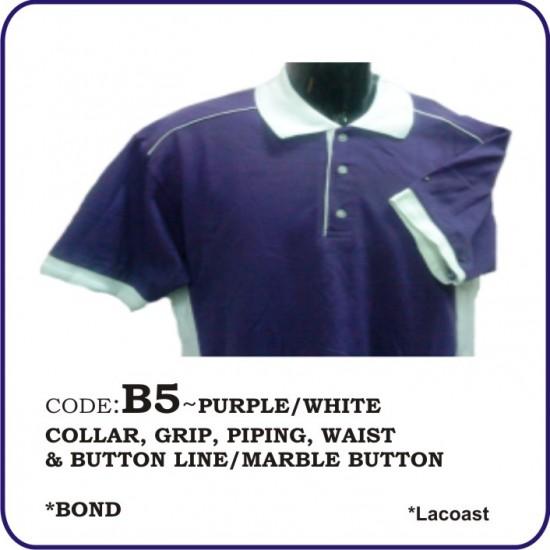 T-Shirt Lacoast B5 - Purple/White